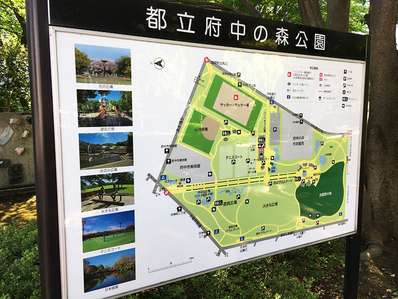 府中の森公園 案内看板